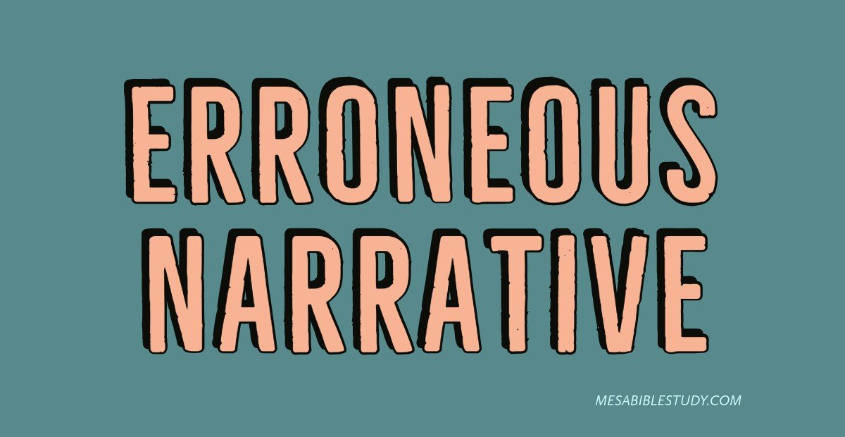 the erroneous narrative of Christianity
