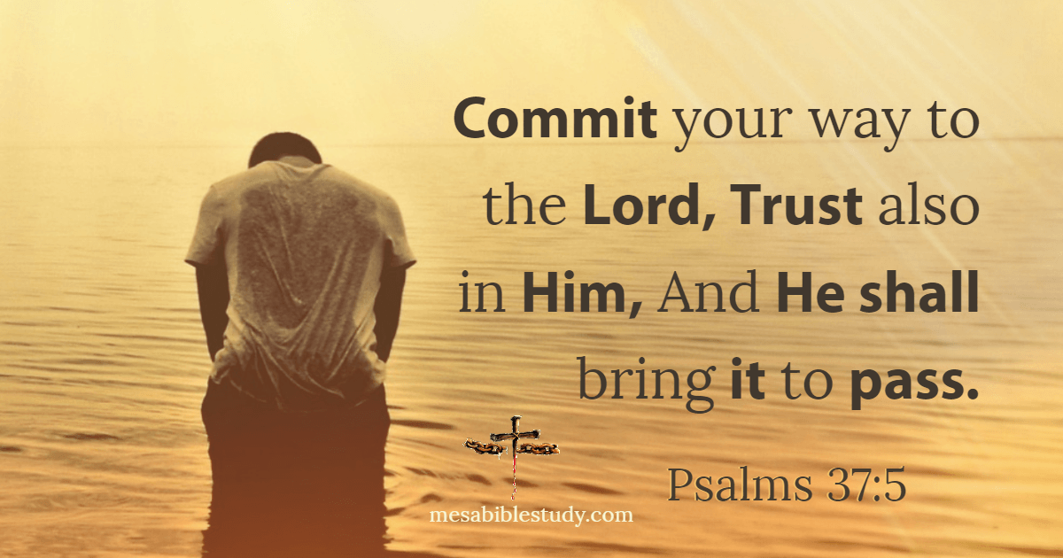 Cast your troubles to the Lord and He will comfort you