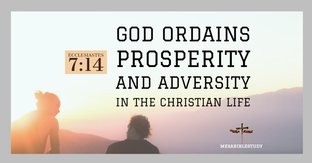 God ordains prosperity and adversity in the Christian life