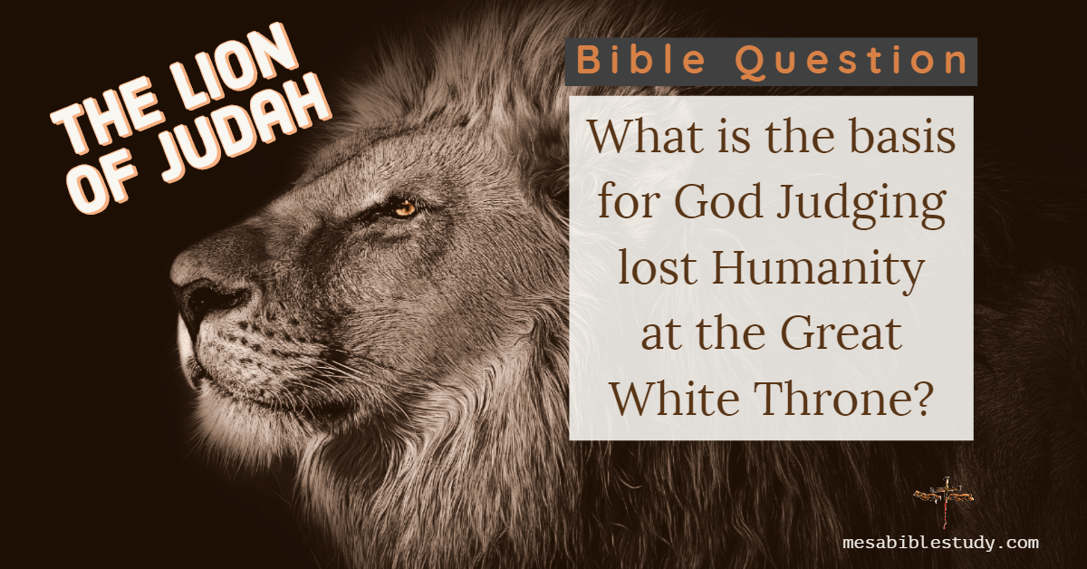 What will be the basis for God to judge lost humanity at the Great White Throne?