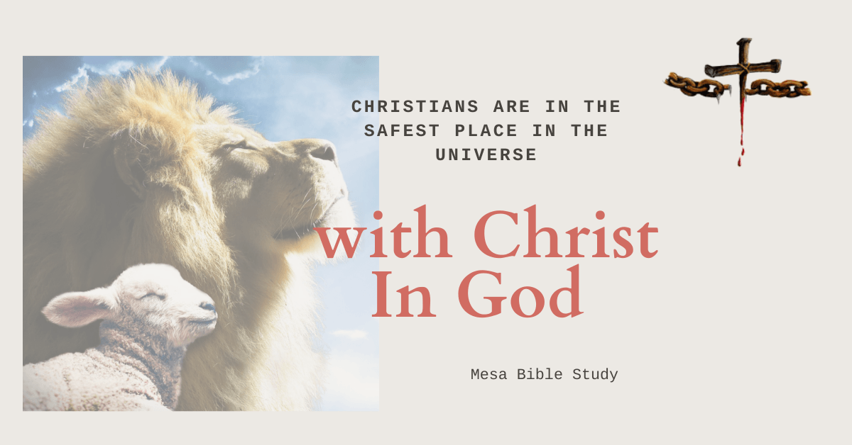 Christians are in the safest place in the Universe