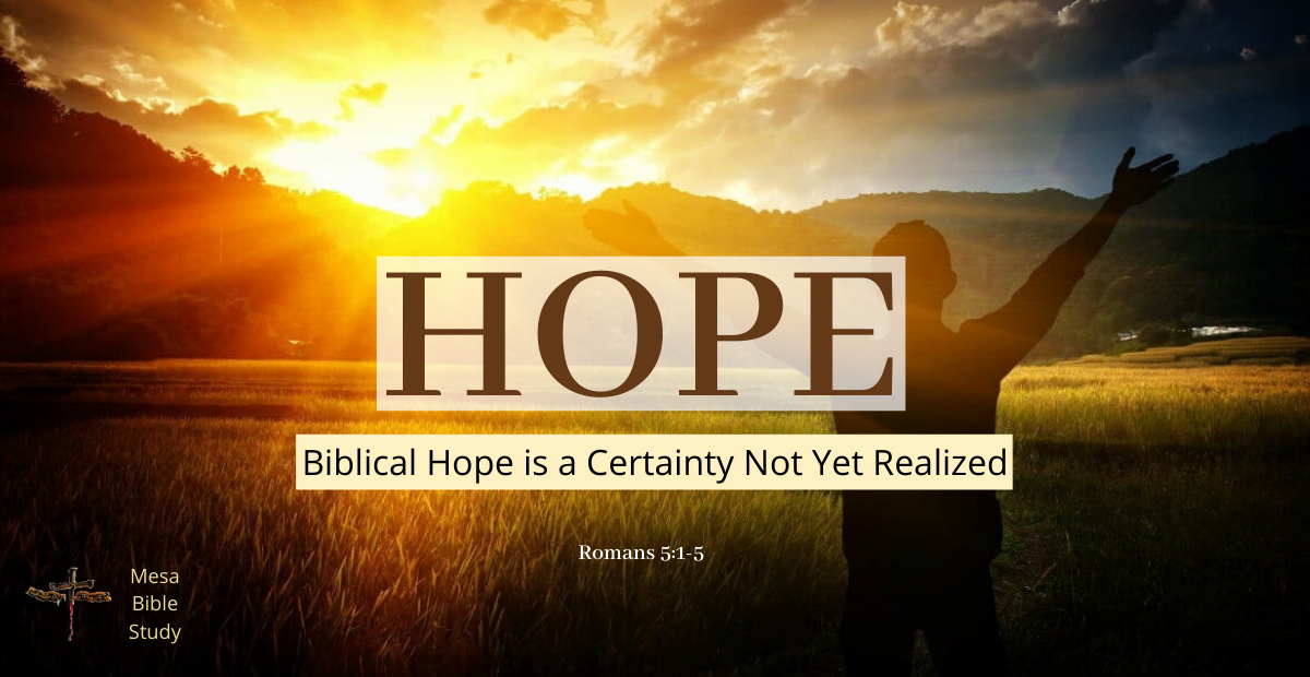 the Scriptural meaning of Hope