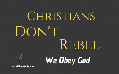 Christians Don't Rebel Against Civil Authority We Obey God