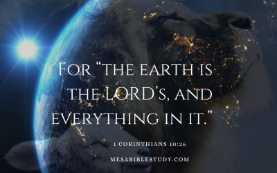 God is Sovereign Over the Earth and Everything in It