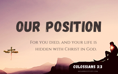 The Believers Position is with Christ In God