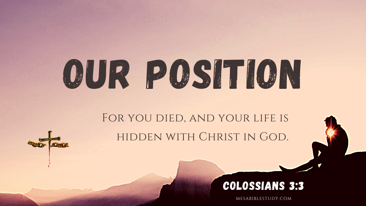 The Believers position is in Christ in God