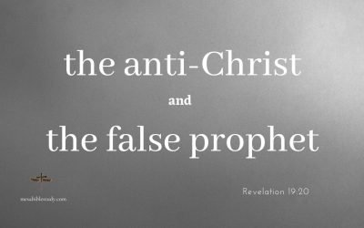 The Anti-Christ and False Prophet are Both Men Tools of Satan they will be the First tossed into the Lake of Fire