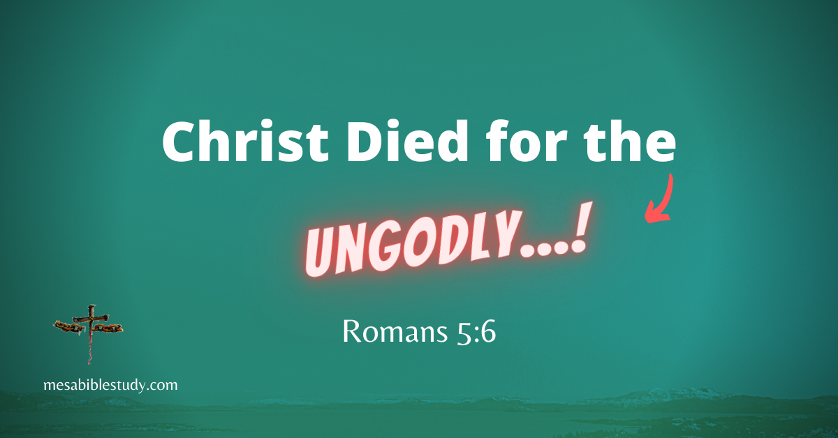Jesus Christ died for all mankind once the sin dilemma was taken care of at the cross