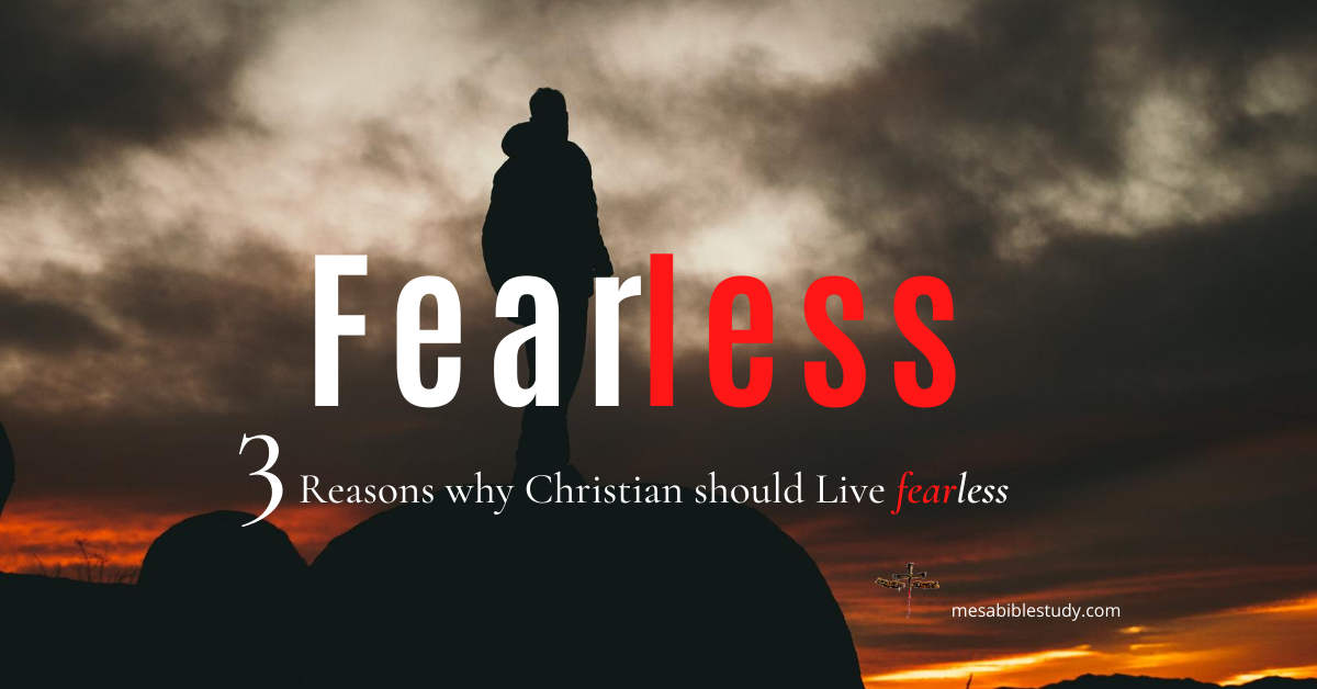 3 Reasons why Christians should live fearless