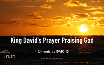 King David's Powerful Prayer Praising God for His Majesty