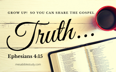 Grow Up Christians! We Must Live Up to the 'Truth' of the Gospel Every Day
